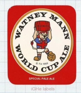 ENGLAND (UK) - Watney Mann Ltd London - WORLD CUP ALE - beer label