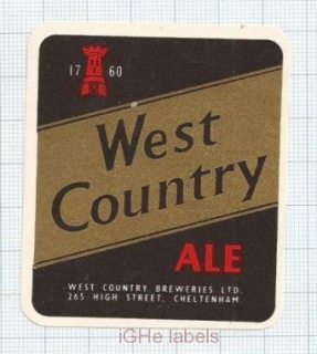 ENGLAND (UK) - West Country Brew Cheltenham - ALE - beer label