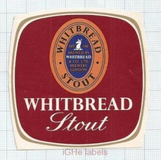 ENGLAND (UK) - Whitbread & Co LTD London - STOUT - beer label
