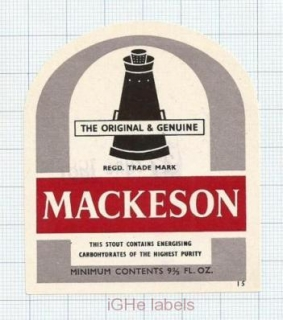 ENGLAND (UK) - Mackeson Brewery - MACKESON STOUT -  beer label