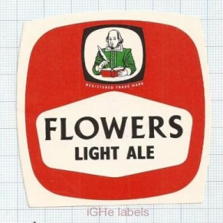 ENGLAND (UK) - Flowers Luton Stratford-Upon-Avon - LIGHT ALE - beer label