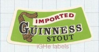 IRELAND - Guinness, Dublin - Imported Stout - beer label
