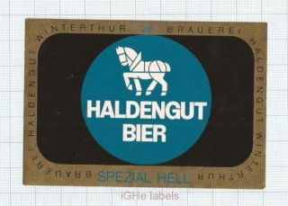 SWISS - Haldengut Winterthur - SPEZIAL HELL - beer label