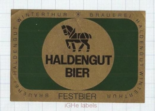 SWISS - Haldengut Winterthur - FESTBIER christmas - beer label