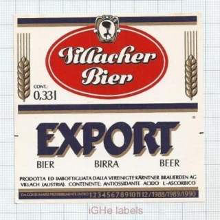 AUSTRIA - Villach - EXPORT - Beer label