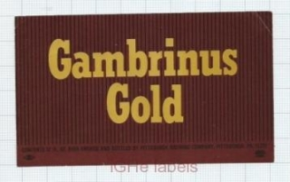 US - Pittsburgh Brew Co Pittsburgh , PA - GAMBRINUS GOLD - beer label
