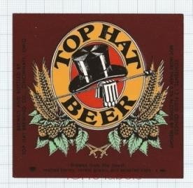 US - Top Hut Brew Co Cincinnati OH - TOP HAT BEER - beer label