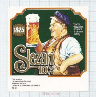 CZECH REPUBLIC - Opava - Slezan 10% - beer label