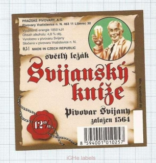 CZECH REPUBLIC - Svijany - Svijansky Kníže - beer label