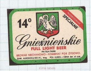 POLAND - Niechanowo - FULL Light beer - beer label