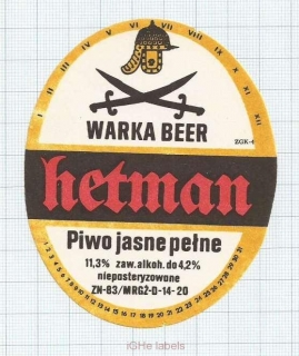 POLAND - Browar Warka - HETMAN - beer label
