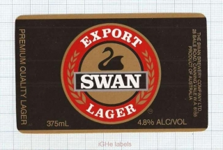 AUSTRALIA - Swan Brew Co Canning Vale - EXPORT LAGER - beer label