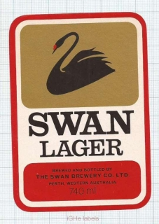 AUSTRALIA - Swan Brew Co Perth - LAGER - beer label