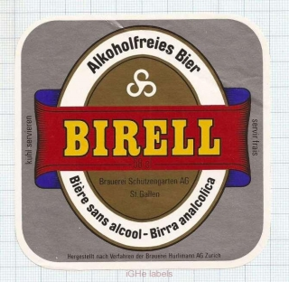 SWISS - A.Hürlimann AG Zurich - BIRREL - beer label