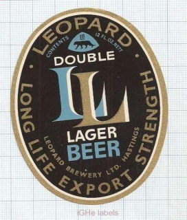 NEW ZEALAND - Leopard Brew Hastings - LEOAPARD DOUBLE LAGER - beer label