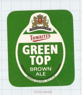 ENGLAND (UK) - Star Brewery - GREEN TOP - beer label