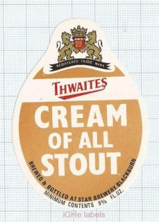 ENGLAND (UK) - Star Brewery - CREAM OF ALL STOUT - beer label