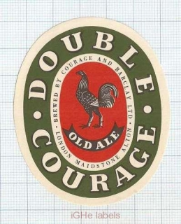 ENGLAND (UK) - Courage & Barclay London - DOUBLE Courage - beer label