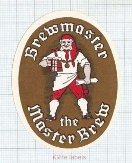 ENGLAND (UK) - Brewmaster THE MASTER BREW - beer label