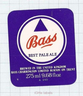 ENGLAND (UK) - Bass Charrington Burton-On-Trent  PALE ALE - beer label