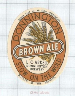 ENGLAND (UK) - L.C.Arkell Donnington Brew - BROWN ALE - beer label