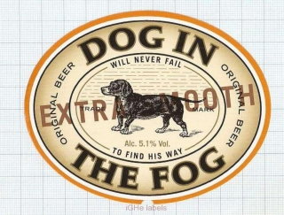 POLAND - Poznan Brewery - DOG IN THE FOG - beer label