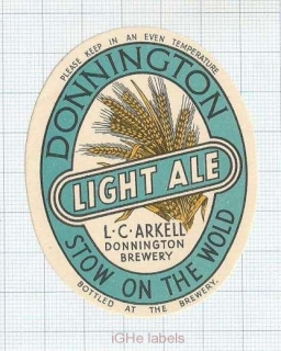 ENGLAND (UK) - L.C.Arkell Donnington Brew - LIGHT ALE - beer label