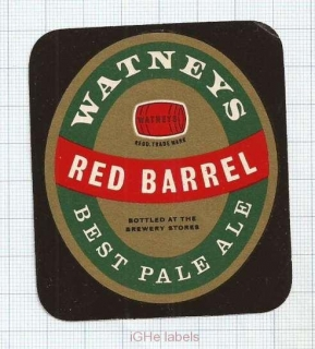 ENGLAND (UK) - Watney Mann Ltd Lonon - RED BARREL Best Pale Ale - beer label