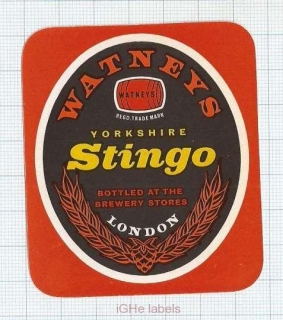 ENGLAND (UK) - Watney Mann Ltd London - STINGO Yorkshire - beer label