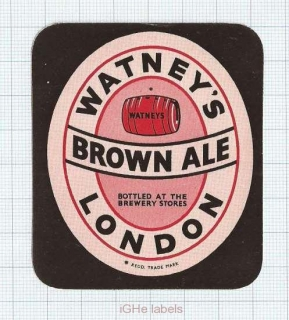 ENGLAND (UK) - Watney Mann Ltd Lonon - BROWN ALE - beer label