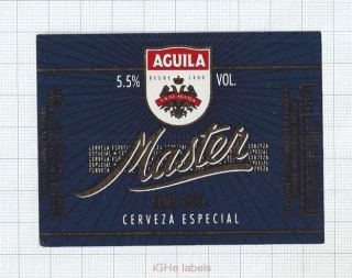 SPAIN - El Águila Madrid - MASTER - beer label