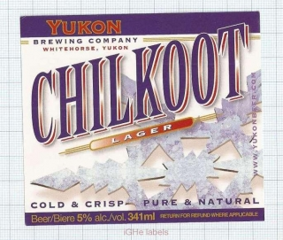 CANADA - Micro,Yukon Brewing Co.Whitehorse - CHILKOUT- beer label