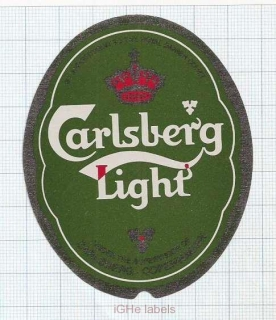 SWEDEN - Bryggeri AB Falken,Falkenberg - CARLSBERG LIGHT - beer label