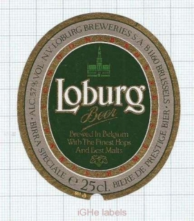 BELGIUM - N.V.Loburg Breweries Brussels - LOBORG - beer label
