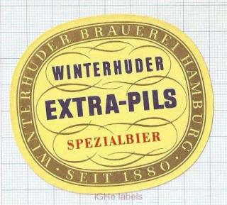 GERMANY - Winterhuder Braerei Hamburg - EXTRA PILS Spezialbier - beer label