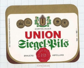 GERMANY - Union Brau Dortmund - SIEGEL PILS - beer label