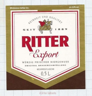 GERMANY - Ritter-Brauerei Dortmund - Export - beer label