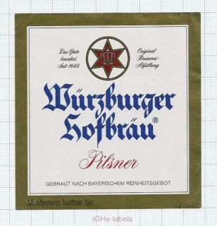 GERMANY - Würzburger Hofbräu - PILSNER - beer label