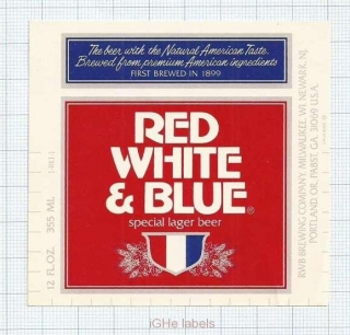 US - RWB Brew Co Milwaukee WI - RED WHITE & BLUE - beer label