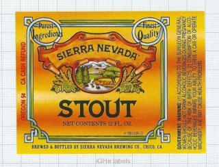 US - Sierra Nevada Brew Co Chico, CA - STOUT - beer label