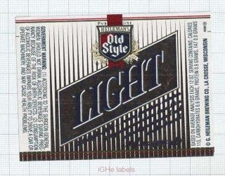 US - Heileman Brew Co, La Crosse WI - LIGHT - beer label