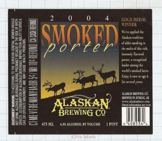 US - Micro, Alaskan Brew Co Juneau, AK - 2004 SMOKED PORTER - beer label