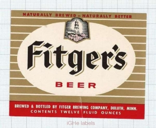 US - Fitger Brew Co Duluth, MI - FITGER'S BEER - beer label