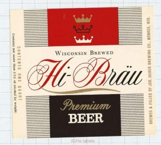 US - Jos.Huber Brew Co Monroe WI - HIBRAU - beer label