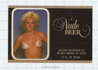 US - Golden Beverages Wilkes-Barre PA - HOME Pilsner Beer sexy woman- beer label