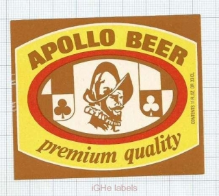 ISRAEL - APOLLO BEER - beer label