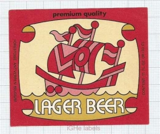 ISRAEL - Lager Beer Sailboat - Beer label