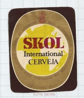 PORTUGAL - Central de Cervejas Lisboa - SKOL - beer label