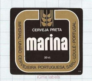 PORTUGAL - Uniao Loule - MARINA - beer label