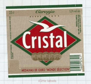 PORTUGAL - Leça do Balio - CRISTAL - beer label